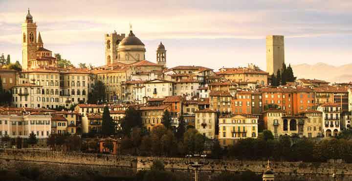 panorama di Bergamo
